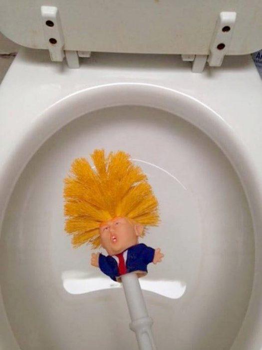 limpia caño de Trump
