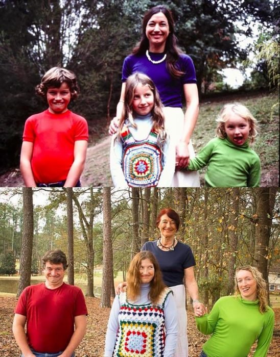 Retrato familia 1975 vs. 2015