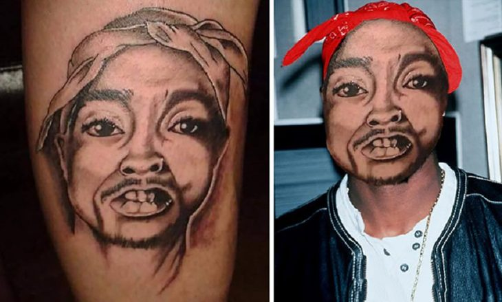 tatuaje gacho de tupac