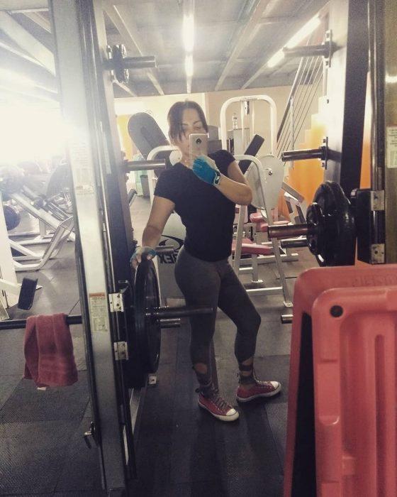 selfie en el gym