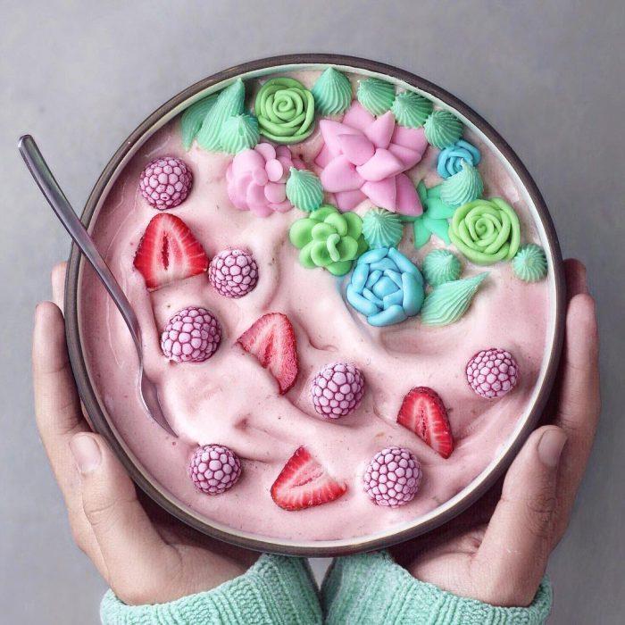 Bowls diseño colores pastel