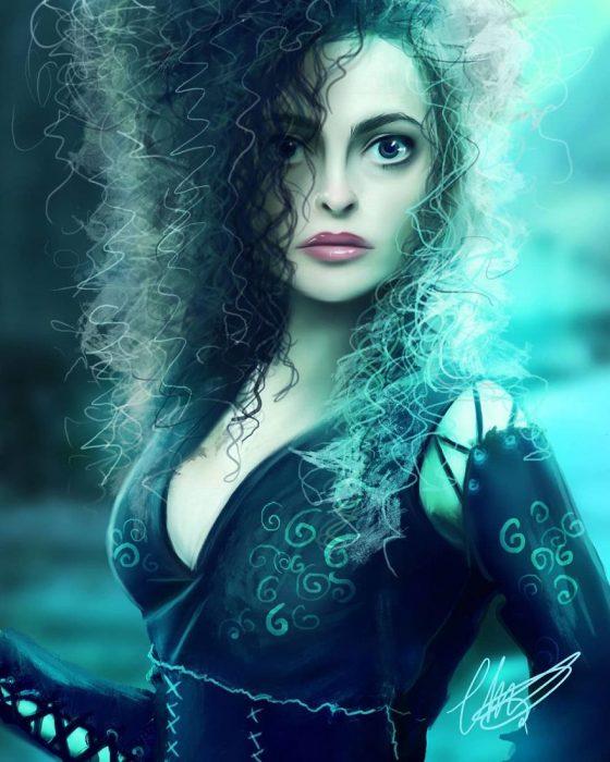 Bellatrix Lestrange estilo anime