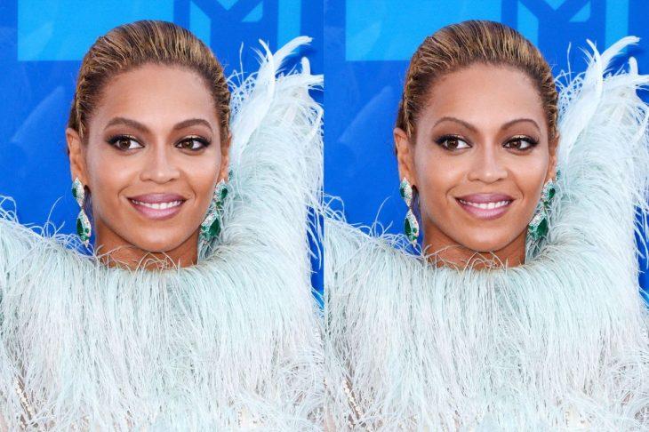 Beyoncé con cejas de los 90