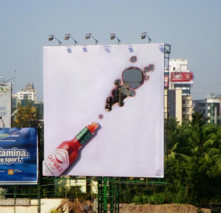 anuncio creativo de salsa picante