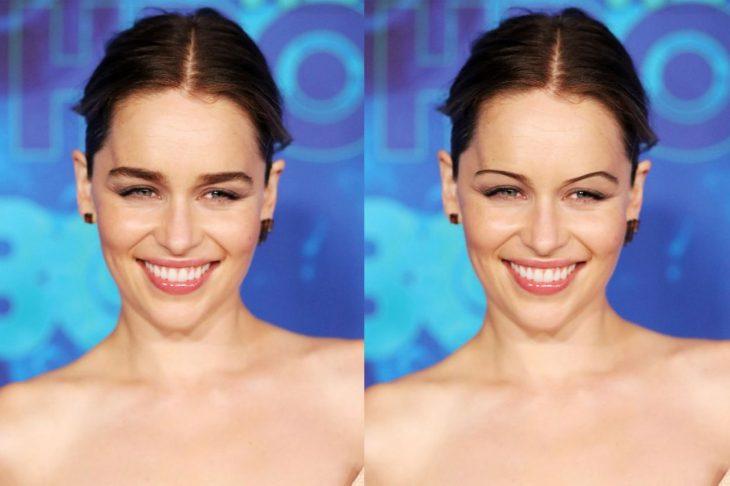 Emilia Clarke con cejas de los 90