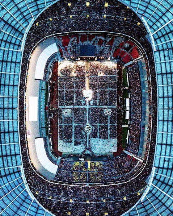 Estadio Azteca vista de águila