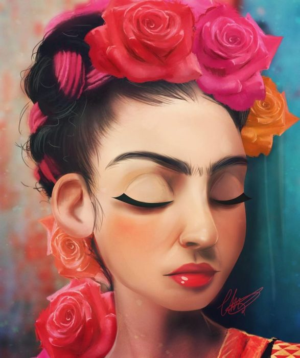 Frida Kahlo estilo anime