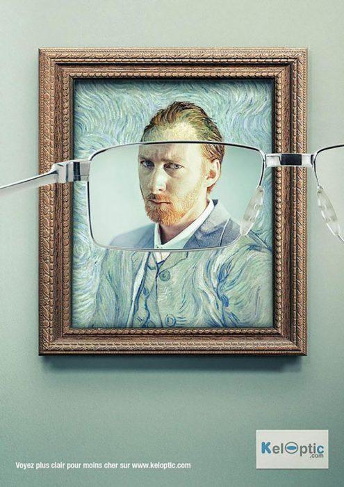 anuncio de gafas con Van Gogh