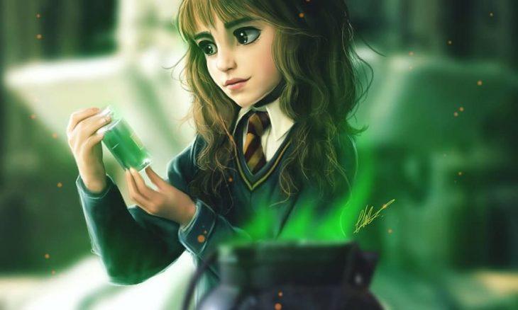 Hermione Granger estilo anime