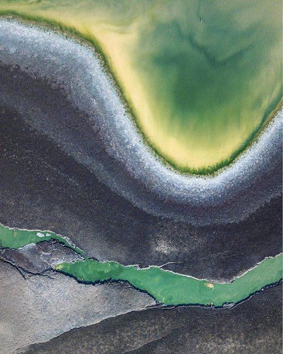 lago de Texcoco desde las alturas