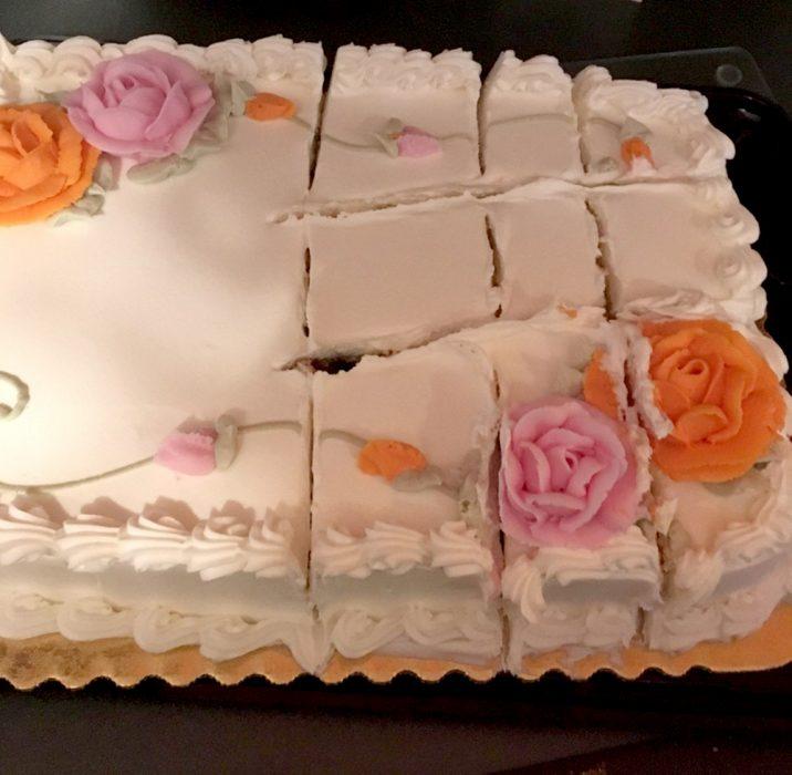 pastel mal cortado