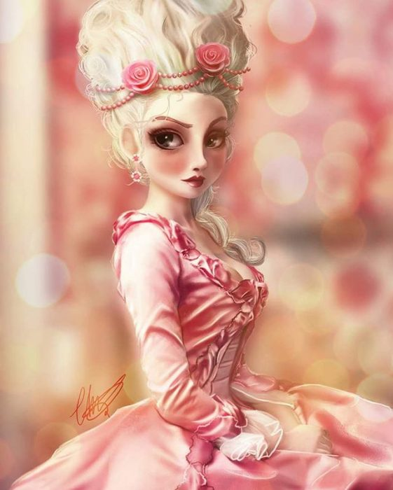 Marie Antoinette estilo anime