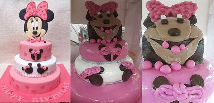 pastel de mimi mause mal hecho