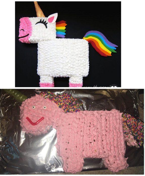 fail de pastel unicornio