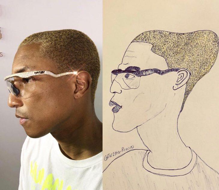 retrato feo de Pharrel Williams