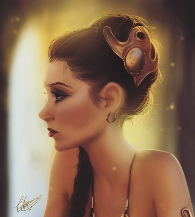Princesa Leia star wars estilo anime