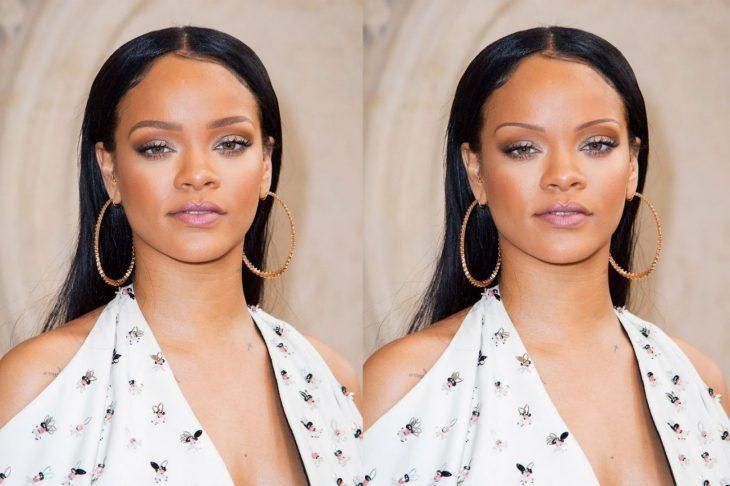 Rihanna con cejas de los 90