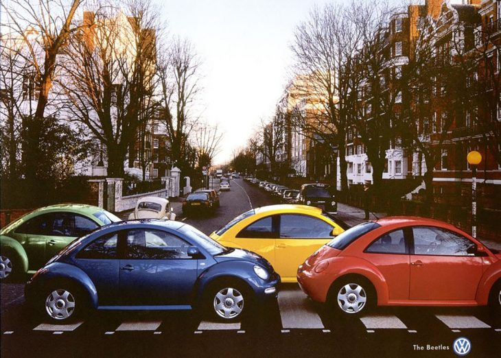 anuncio de carritos beetles como los beatles