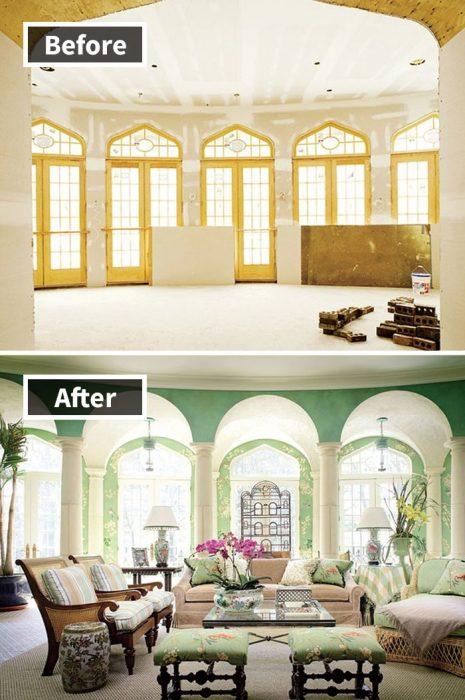 remodelación de salón elegante