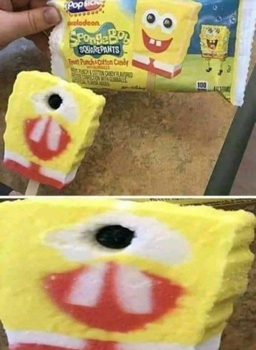 paleta de bob esponja mal hecha