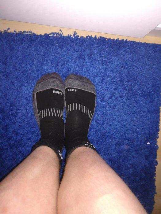 calcetines puestos al revés