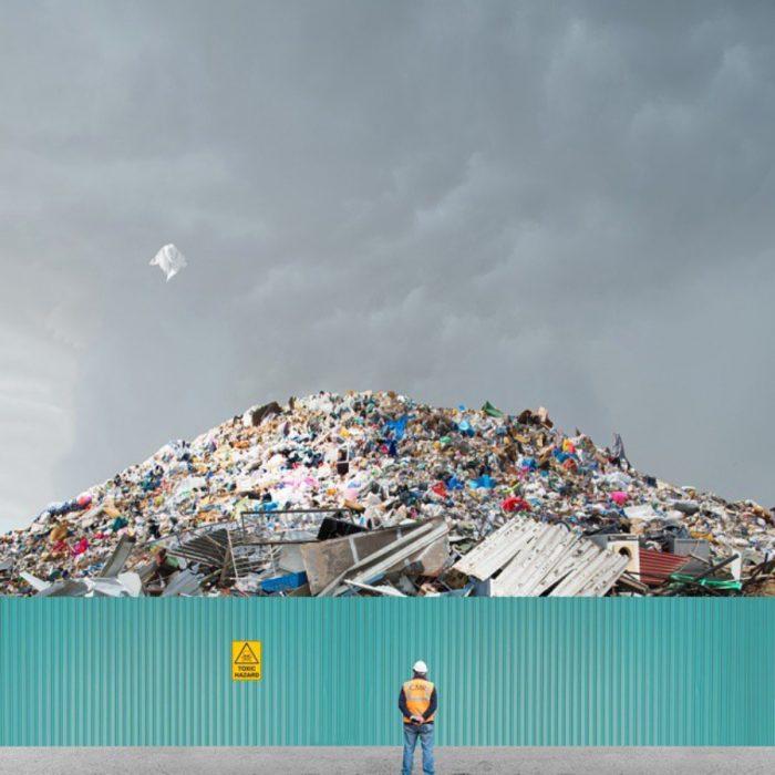 imagen surrealista de basura