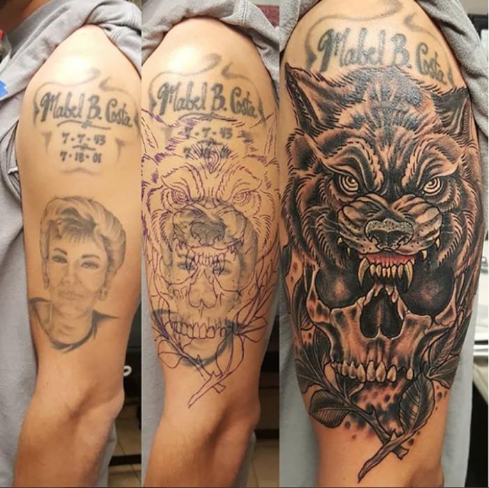 tatuaje feo que lo arreglaron