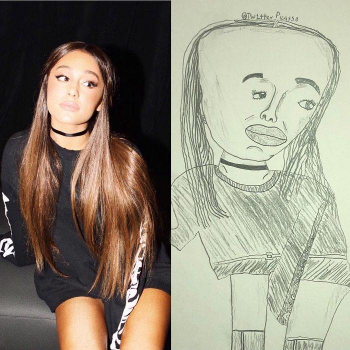 retrato feo de Ariana Grande