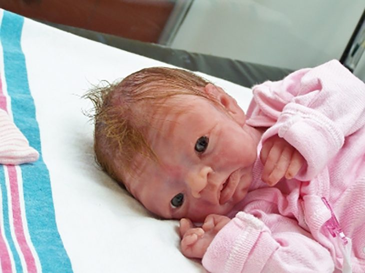 bebé reborn arrugada