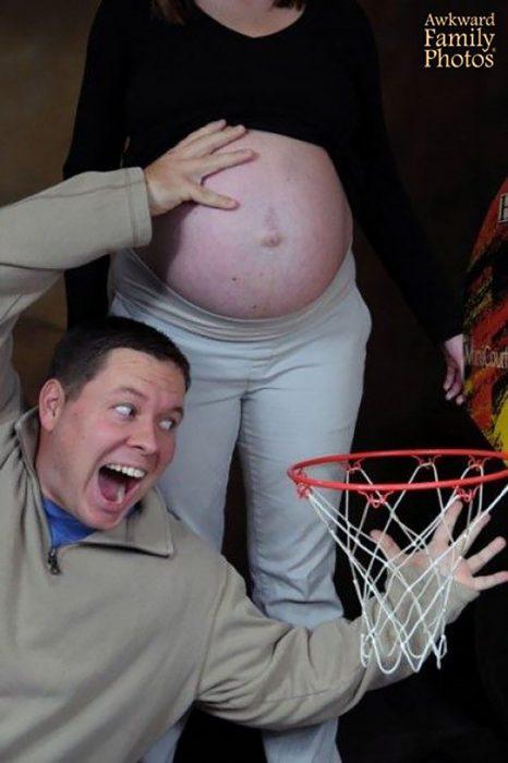 foto de embarazo encestar