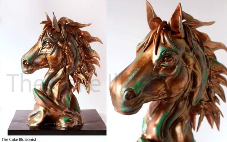 pastel cabeza de caballo
