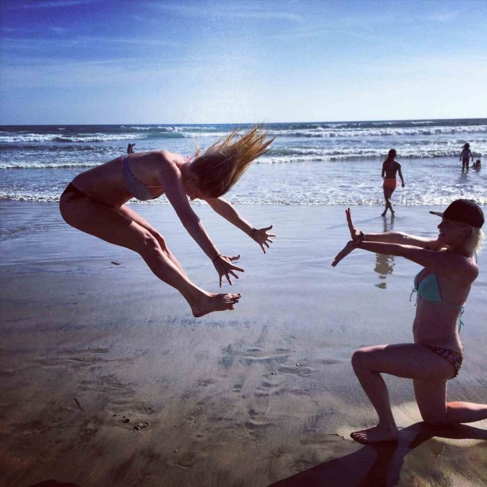 foto en la playa ¡Kame Hame Ha!