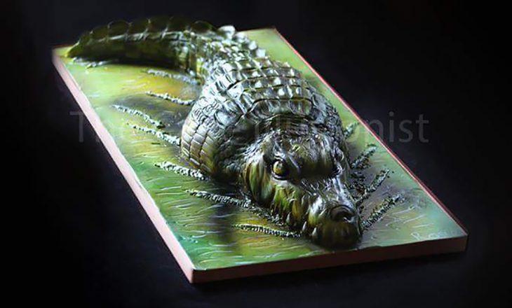 pastel de cocodrilo