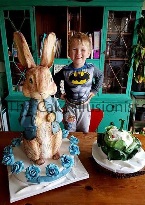 pastel de conejo de pascua