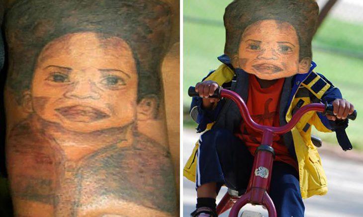 tatuaje de niño feo