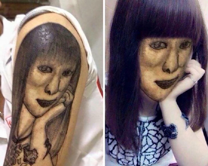 tatuaje feo de mujer