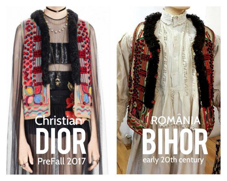 dior roba diseños rumanos