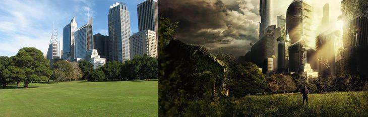photoshop de una imagen que parece una distopía