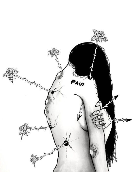 el dolor de la mujer