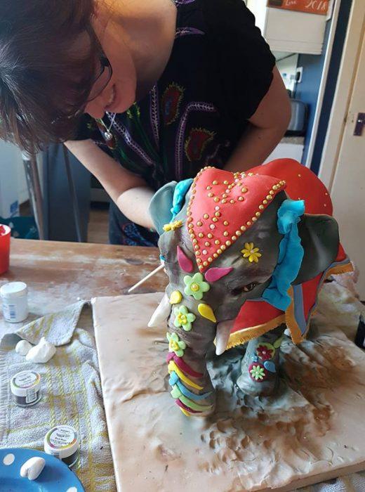 pastel de elefante hindu