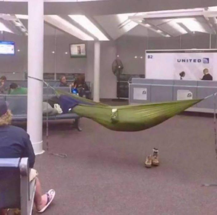 hamaca en aeropuerto