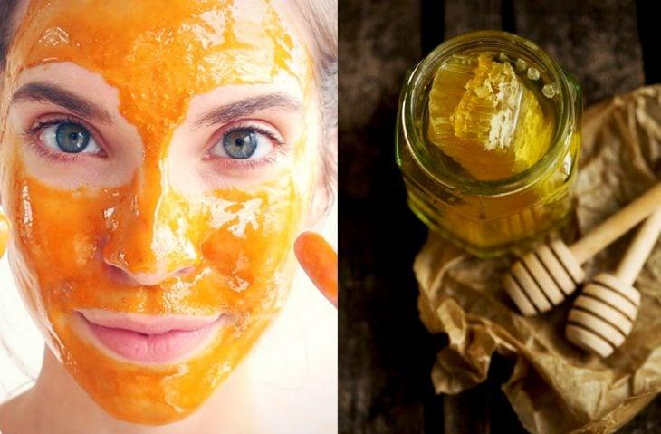 mascarilla de miel y miel
