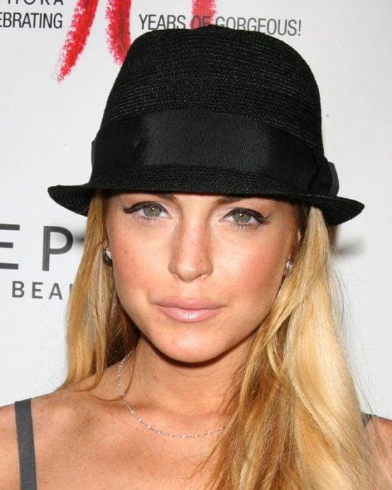 Lindsay Lohan con fedora