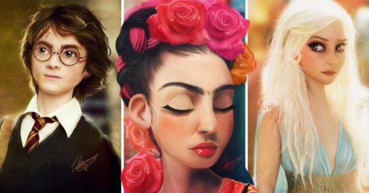 Cover Artista convierte a personajes famosos en anime