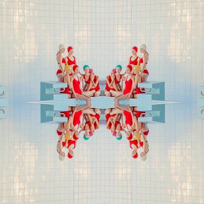 grupo de nado sincronizado