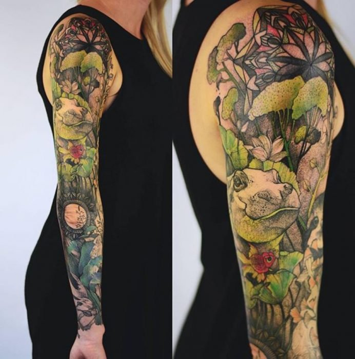 tatuaje de hipopótamo
