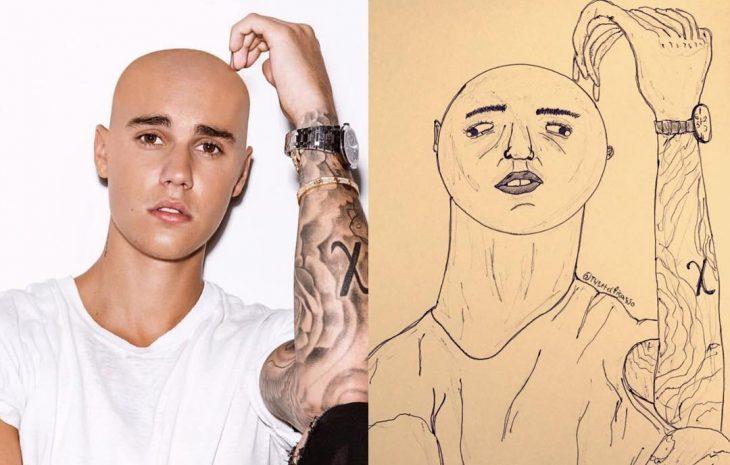 retrato feo de Justin Bieber