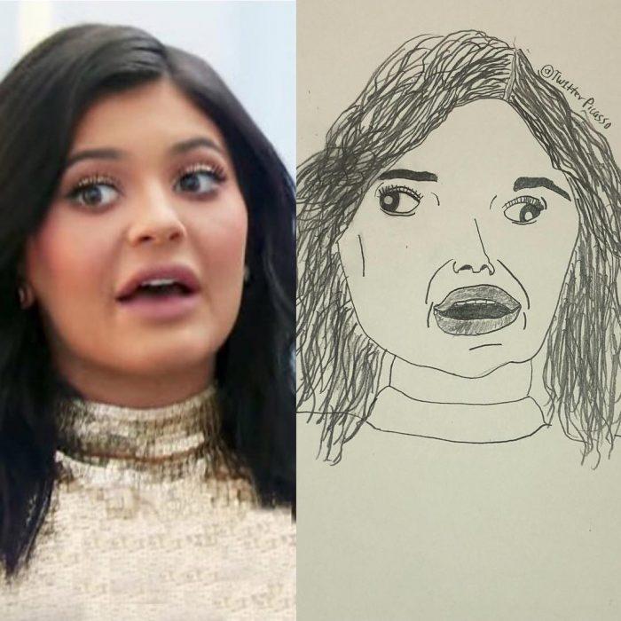 retrato feo de Kylie Jenner