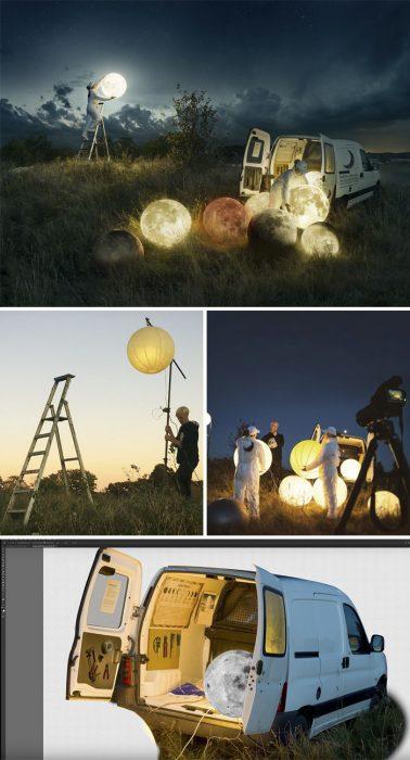 truco de foto luna