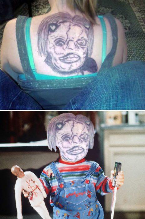tatuaje mal hecho de chucky